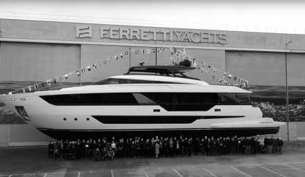 Launch of the 1st Ferretti Yachts 1000