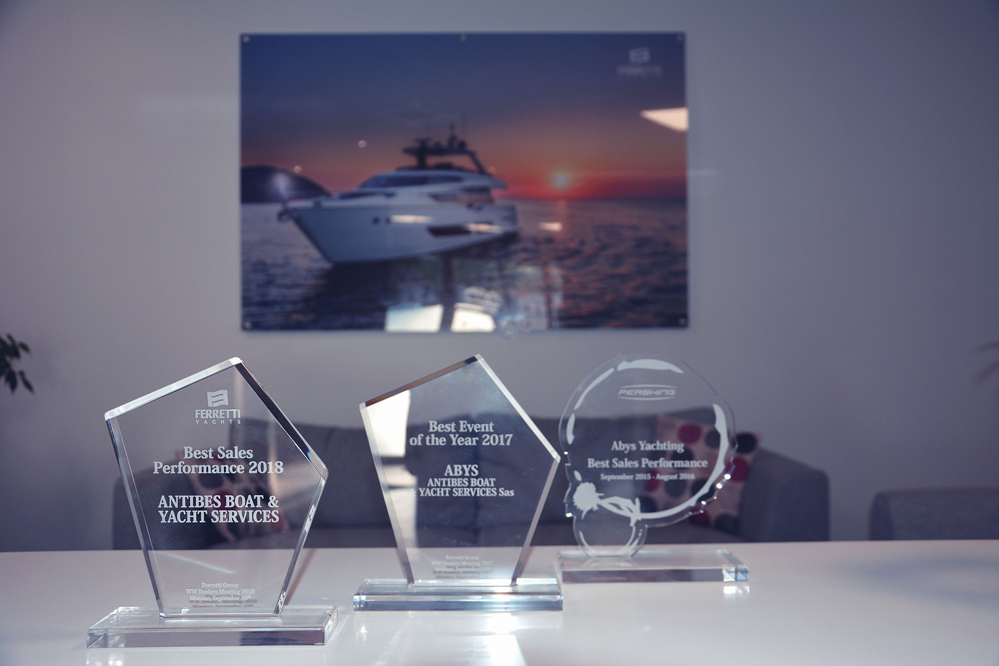 "Ferretti Yachts ""Best Sales Performance"" 2018"