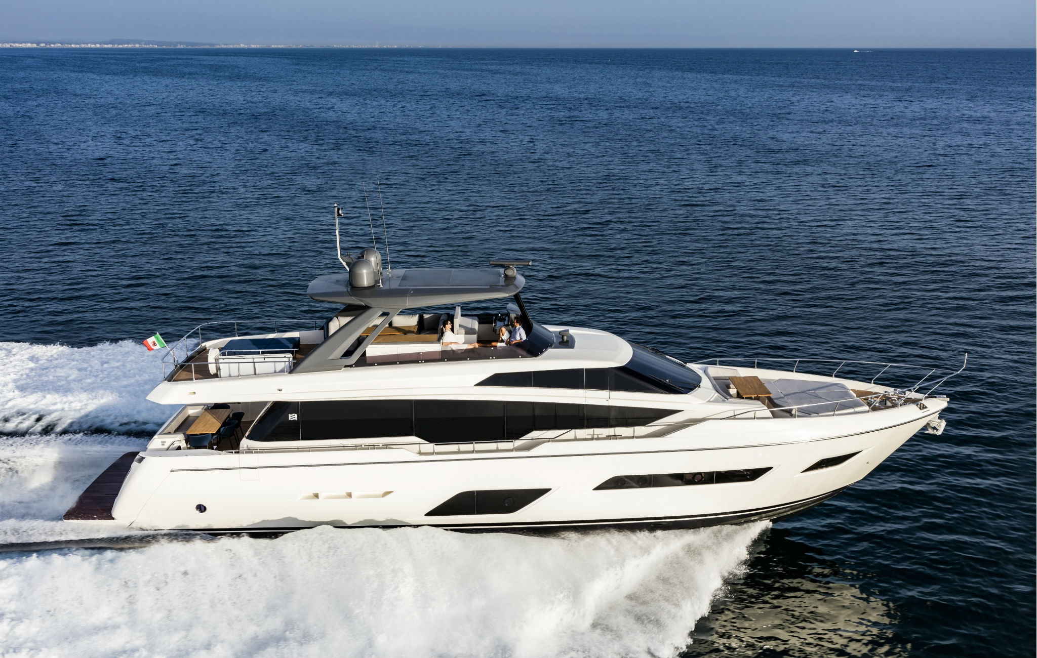 The innovative Ferretti Yachts 780...